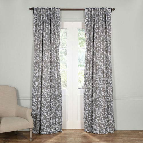 Half Price Drapes Abstract Gray Blackout Curtain- SAMPLE SWATCH ONLY