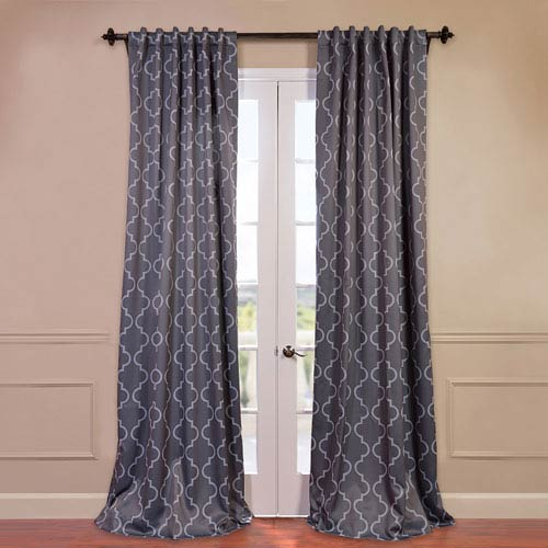 Half Price Drapes Seville Grey 50 x 84-Inch Blackout Curtain