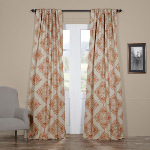 Half Price Drapes Henna Orange 50 X 120 Inch Blackout Curtain