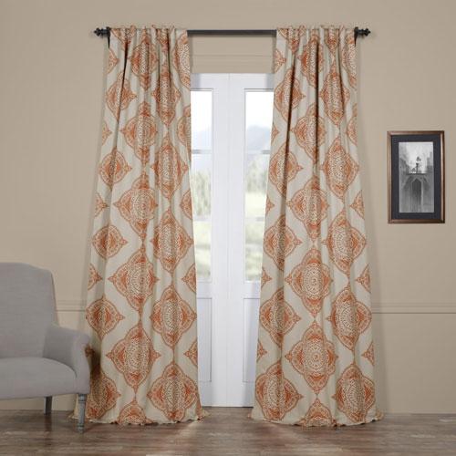 Half Price Drapes Henna Orange 50 x 96-Inch Blackout Curtain