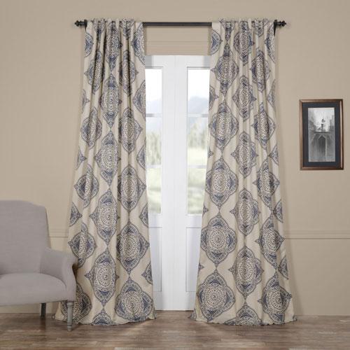 Henna Blue 120 x 50-Inch Blackout Curtain Single Panel