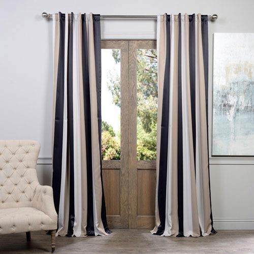Half Price Drapes Georgetown Brown 50 x 84-Inch Blackout Curtain