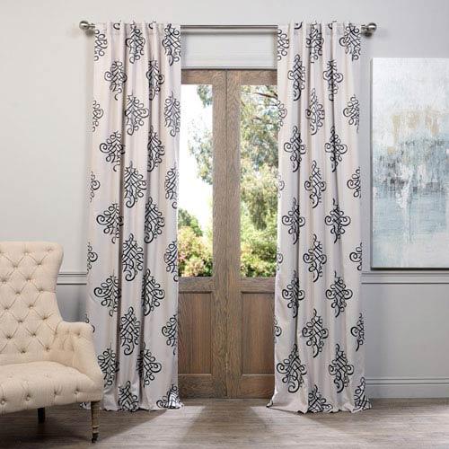 Half Price Drapes Tugra Black 50 X 120 Inch Blackout Curtain