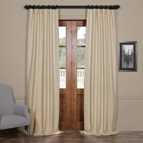 Half Price Drapes Candlelight Beige 120 x 50-Inch Bellino Blackout Curtain Single Panel