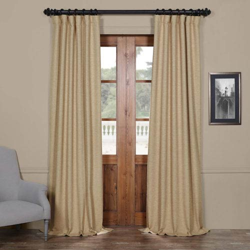 Half Price Drapes Ginger Yellow 50 x 96-Inch Blackout Curtain
