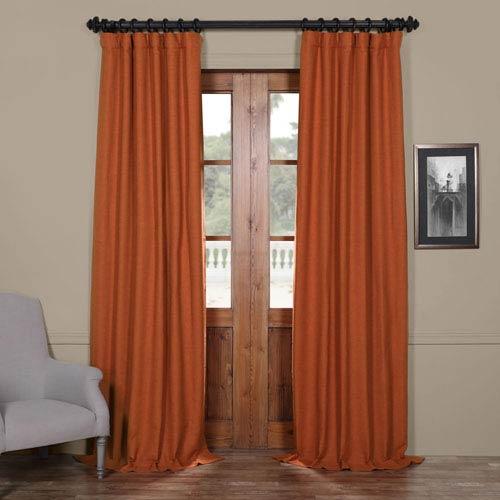 Half Price Drapes Persimmon Orange 50 x 84-Inch Blackout Curtain