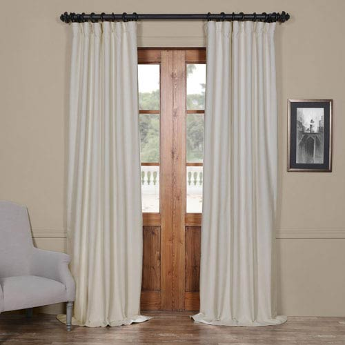 Half Price Drapes Bellino Cottage White 50 x 84-Inch Blackout Curtain