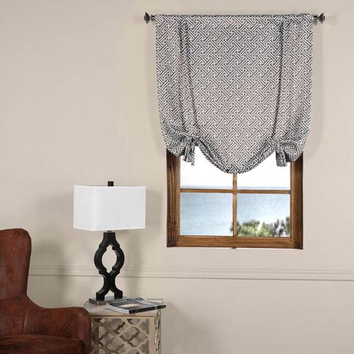 Cobblestone Taupe 42 x 63-Inch Blackout Tie-up Window Shade