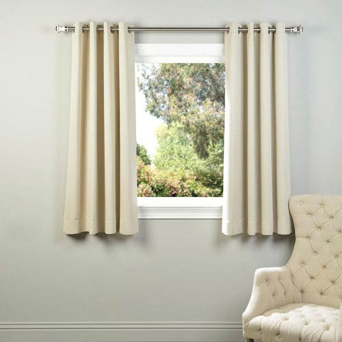 Half Price Drapes Ivory 63 X 50 Inch Grommet Blackout Curtain Panel Pair