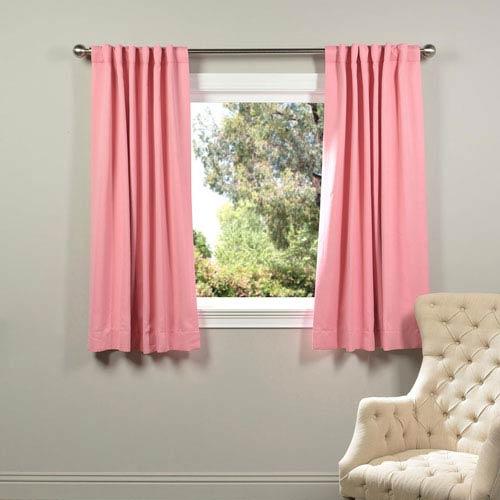 Precious Pink 63 x 50-Inch Blackout Curtain Panel Pair