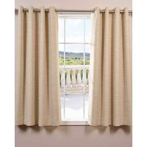 Half Price Drapes Candlelight Beige 63 x 50-Inch Grommet Bellino Blackout Curtain Single Panel