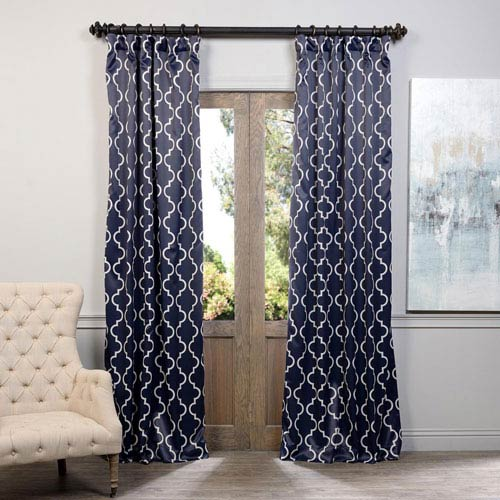 Half Price D Navy Seville 50 X 108 Inch Blackout Curtain