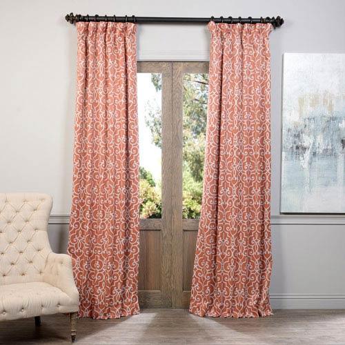 Rust Nouveau 50 x 120-Inch Blackout Curtain