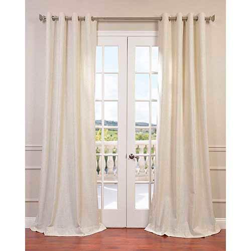 Half Price Drapes Barley 120 x 50-Inch Grommet Curtain Single Panel