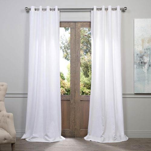 Half Price Drapes White 108 x 50-Inch Grommet Curtain Single Panel