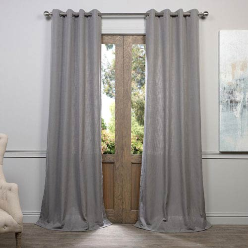 Half Price Drapes Pewter Gray 108 x 50-Inch Grommet Curtain Single Panel