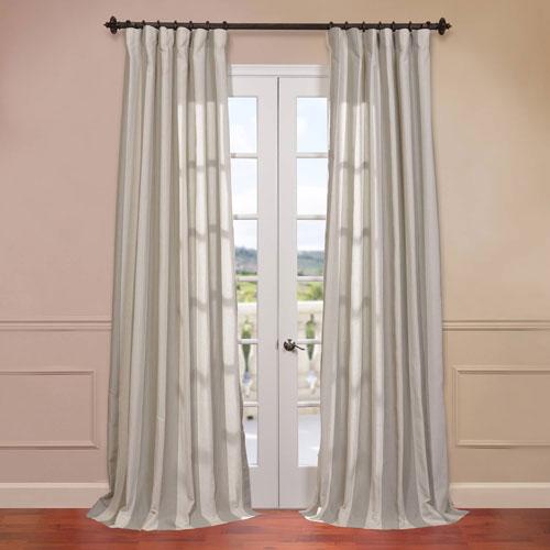 Bermuda Stone Blend Stripe Curtain Sample Swatch