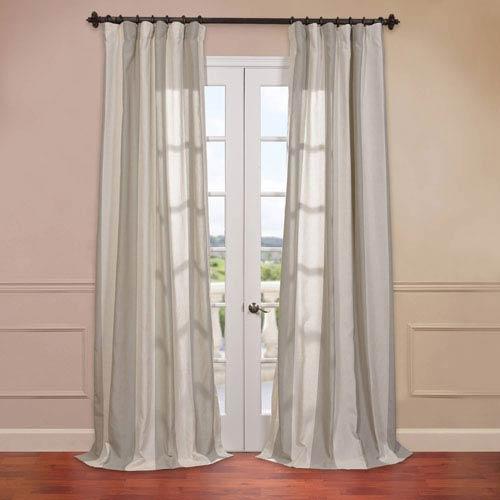 Half Price Drapes Del Mar Stone 50 x 96-Inch Blend Stripe Curtain