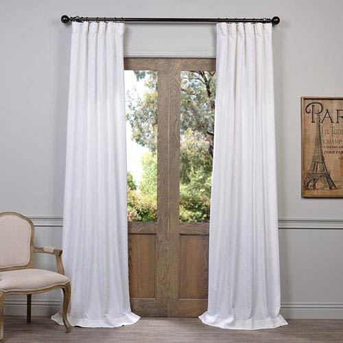 Half Price Drapes White 96 x 50-Inch Curtain Single Panel