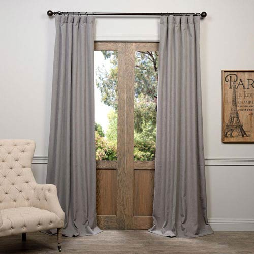 Half Price Drapes Pewter Gray 96 x 50-Inch Curtain Single Panel