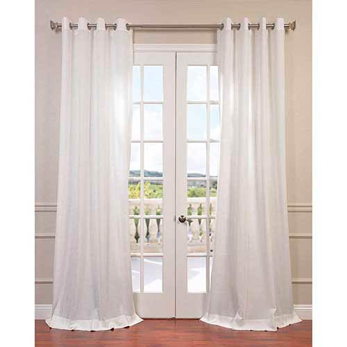 Half Price Drapes Cloud White 84 x 50-Inch Grommet Curtain Single Panel