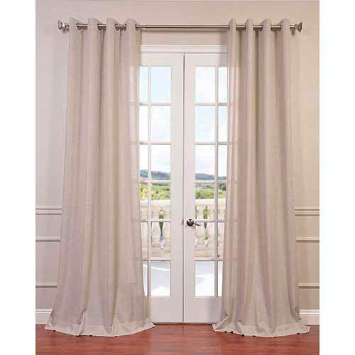 Half Price Drapes Pebble Rock 96 x 50-Inch Grommet Curtain Single Panel