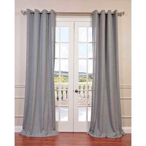 Half Price Drapes Heather Gray 96 x 50-Inch Grommet Curtain Single Panel