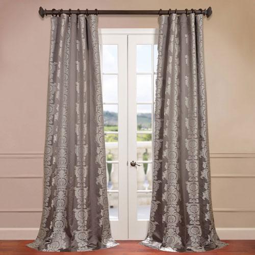 Surrey Grey Jacquard Curtain Sample Swatch