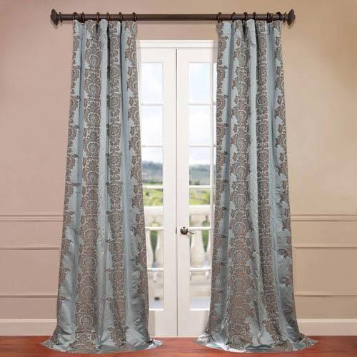 Surrey Blue Jacquard Curtain Sample Swatch