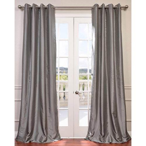 Platinum 96 x 50-Inch Grommet Blackout Faux Silk Taffeta Curtain Single Panel