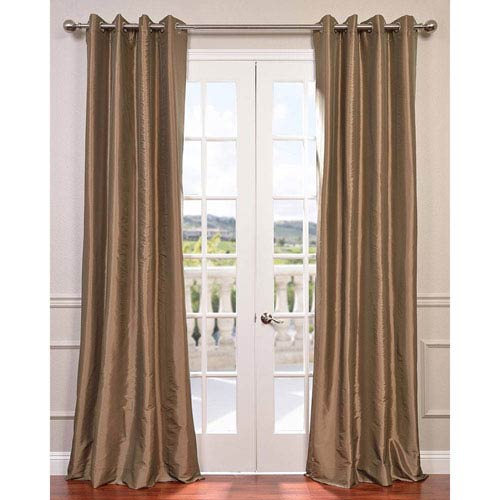 Gold Nugget 108 x 50-Inch Grommet Blackout Faux Silk Taffeta Curtain Single Panel