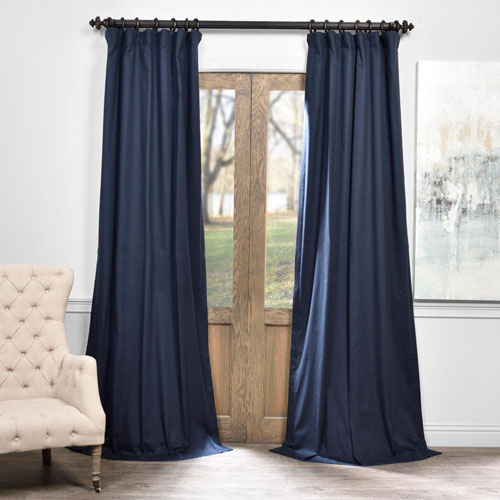 Half Price Drapes Polo Navy - Sample Swatch Only