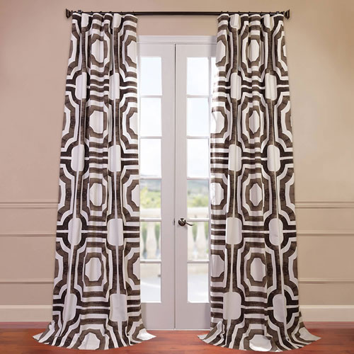 Half Price Drapes Mecca Brown 50 x 120-Inch Printed Curtain
