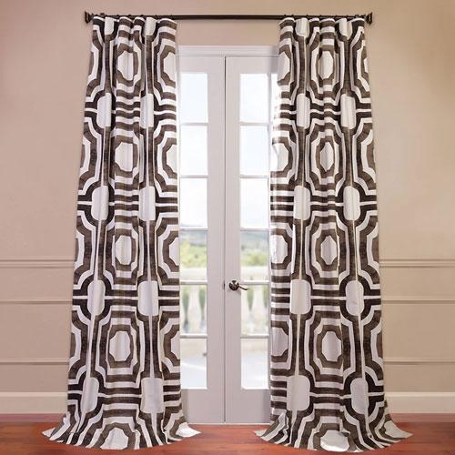 Mecca Brown 50 x 96-Inch Printed Curtain
