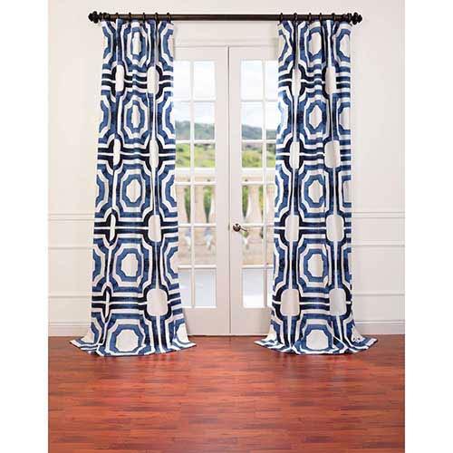 Mecca Blue 96 x 50-Inch Curtain Single Panel