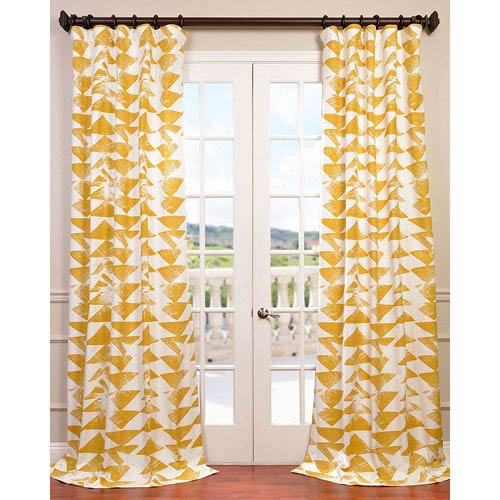 Half Price Drapes Triad Gold 96 x 50-Inch Curtain Single Panel