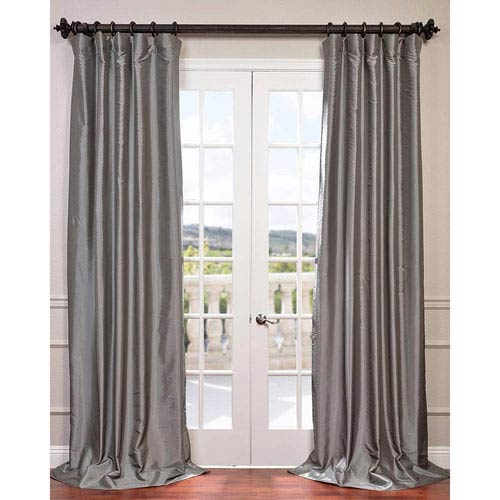 Platinum 96 x 50-Inch Blackout Faux Silk Taffeta Curtain Single Panel