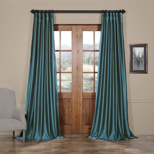 Azul Blue 50 x 120-Inch Taffeta Curtain