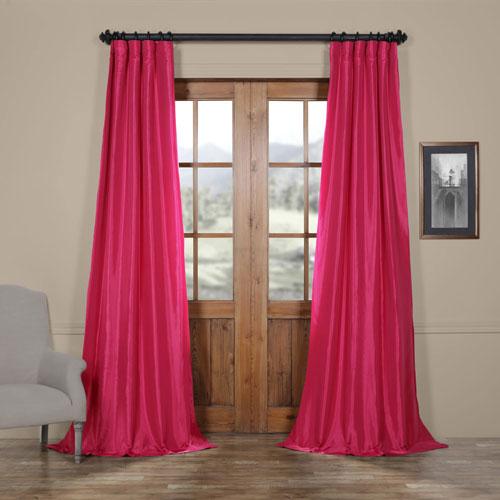 Fuchsia Purple 50 x 84-Inch Taffeta Curtain
