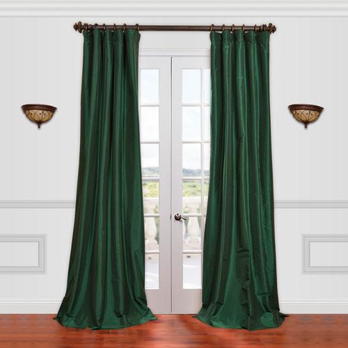 Half Price Drapes Emerald Green 50 x 84-Inch Taffeta Curtain