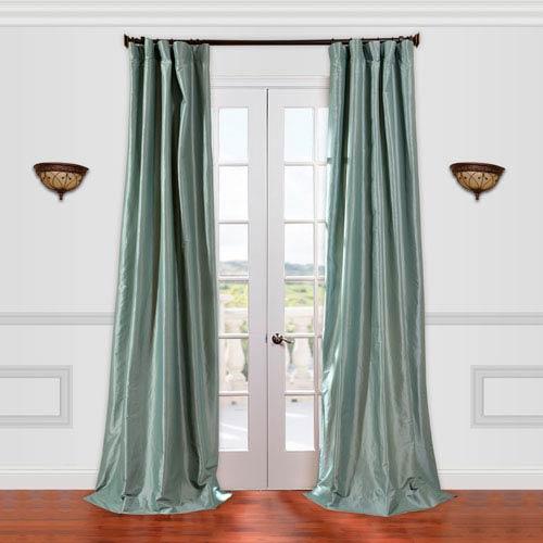 Half Price Drapes Robins Egg Blue 50 x 120-Inch Curtain