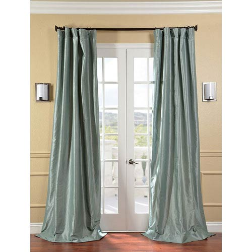 single panel curtain. Half Price Drapes Robins Egg Faux Silk Taffeta Single Panel Curtain, 50 X 96 Curtain R