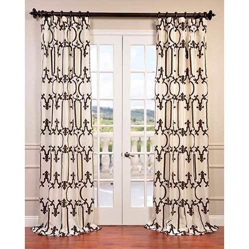 Royal Gate Ivory 84 x 50-Inch Curtain Single Panel