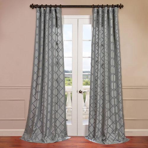 Pavillion Silver Flocked Curtain Sample Swatch