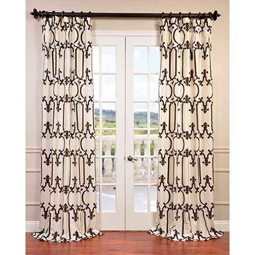Half Price Drapes Royal Gate Ivory 108 x 50-Inch Curtain Single Panel