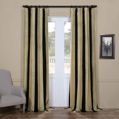 Half Price Drapes Sake Multi 50 x 84-Inch Taffeta Stripe Curtain