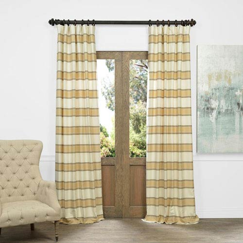 Tyler Beige Faux Silk Jacquard Curtain Sample Swatch