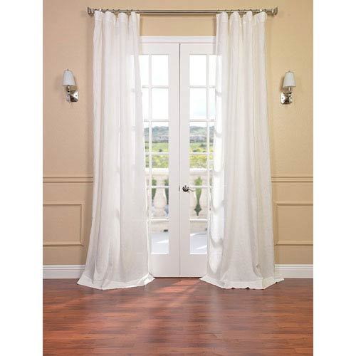 Half Price Drapes Signature Antique Lace French Linen Sheer Single Panel Curtain Panel, 50 X 108