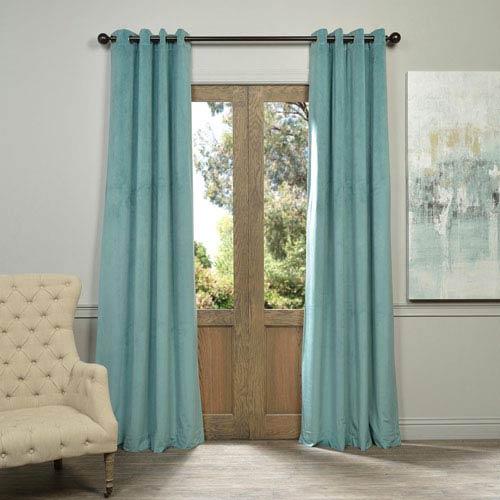 Half Price Drapes Signature Aqua Mist 120 x 50-Inch Grommet Blackout Curtain Single Panel