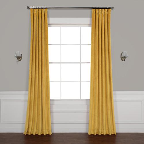 California Gold 108 x 50 In. Plush Velvet Curtain Single Panel